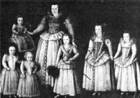 Countess of Leicester and her children 1596